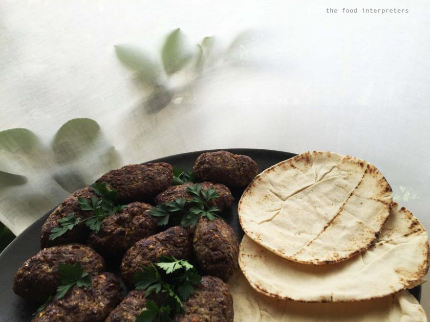 beef and pistachio kebab